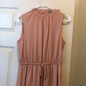 Light pink casual work dress